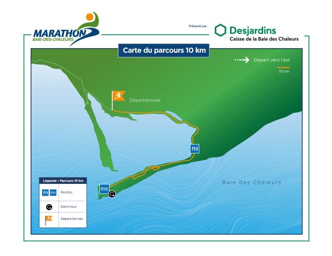 Parcours 10 km Desjardins